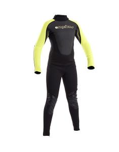 Typhoon Swarm Childrens full wetsuit  BlackYellow  3mm