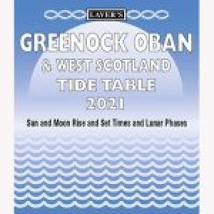 Lavers Greenock Oban  West Scotland Tide Table 2021