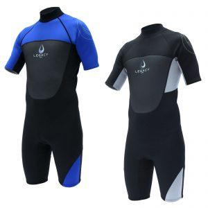 Legacy Mens Shorty Wetsuit  Grey only  now reduced to clear