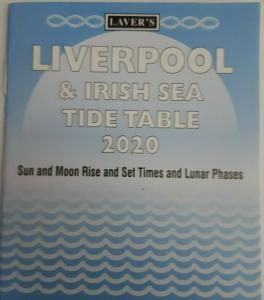 Lavers Liverpool  Irish Sea Tide Table 2020