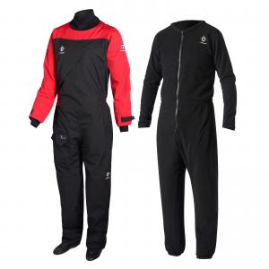 Crewsaver Atacama Sport Drysuit COMPLETE WITH UNDER SUIT  BlackRed SPECIAL OFFER 26500